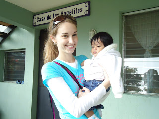Serving the children at the Casa Bernabe orphanage...