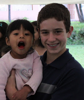 Jackson and Damaris Sophia... the precious little girl who looks very similar to the May's adopted Guatemalan daughter, Sophia