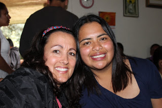 Jenni and Roxanna (who wants to be a missionary)... instant friends