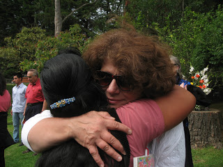 Roberta was overwhelmed by all of the hugs