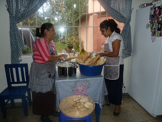 Our wonderful cooks, Eufy and Blanquita