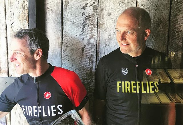Bon Courage for your adventure in the alps @jeff_okeefe @rick100. #forthosewhosufferweride #firefliescc #fireflieswest #firefliestour
