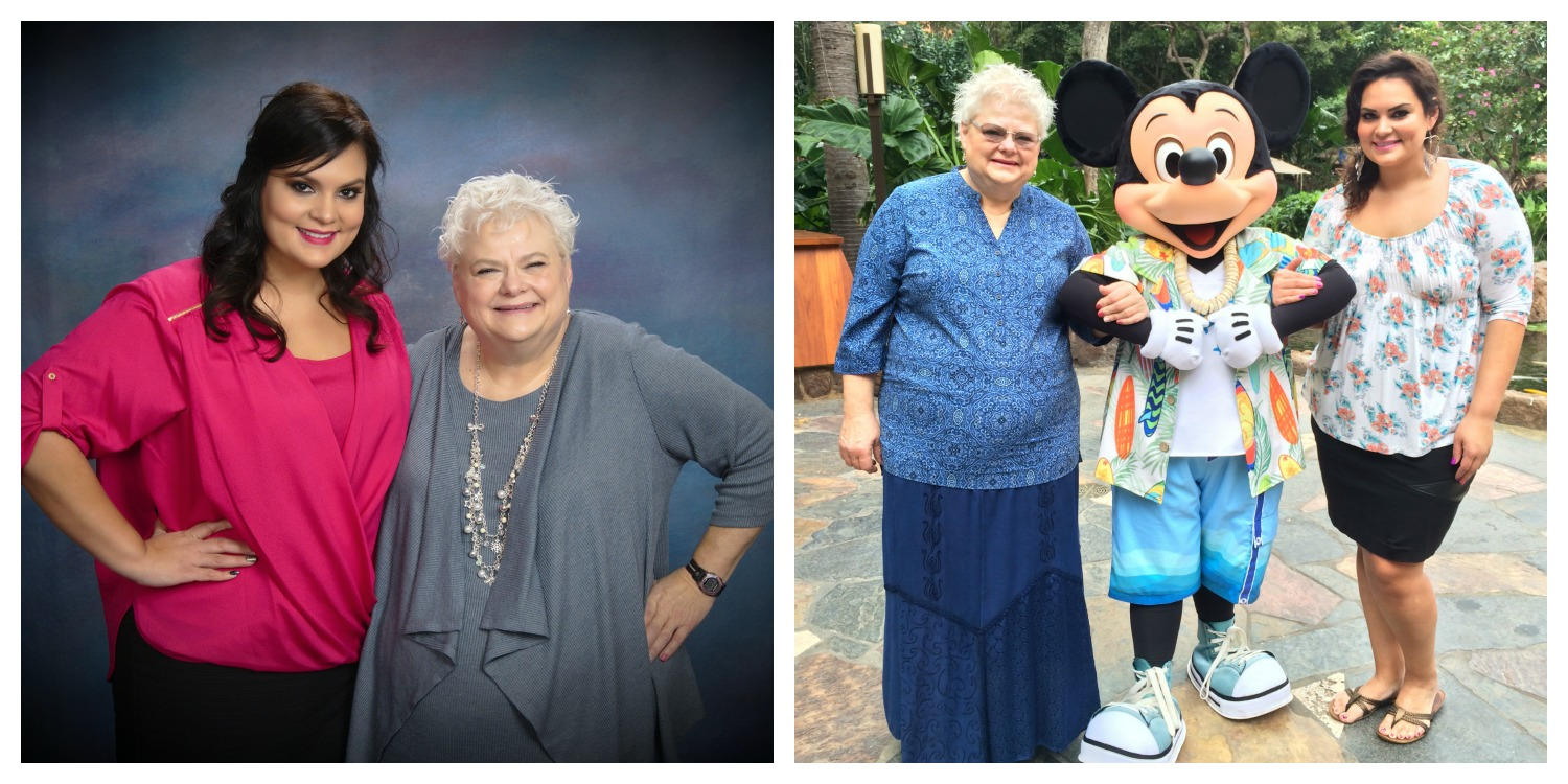 My dear mom Rita and Mickey Mouse. They are both lots of fun.