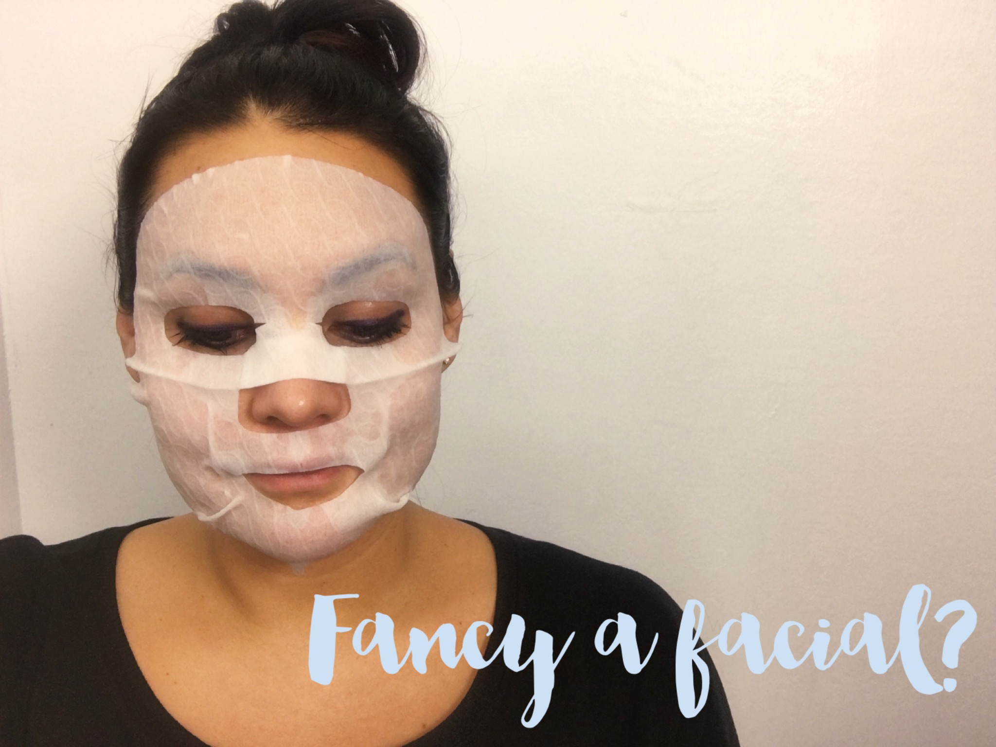 Wearing Skinfood's Everyday Broccoli Facial Mask Sheet