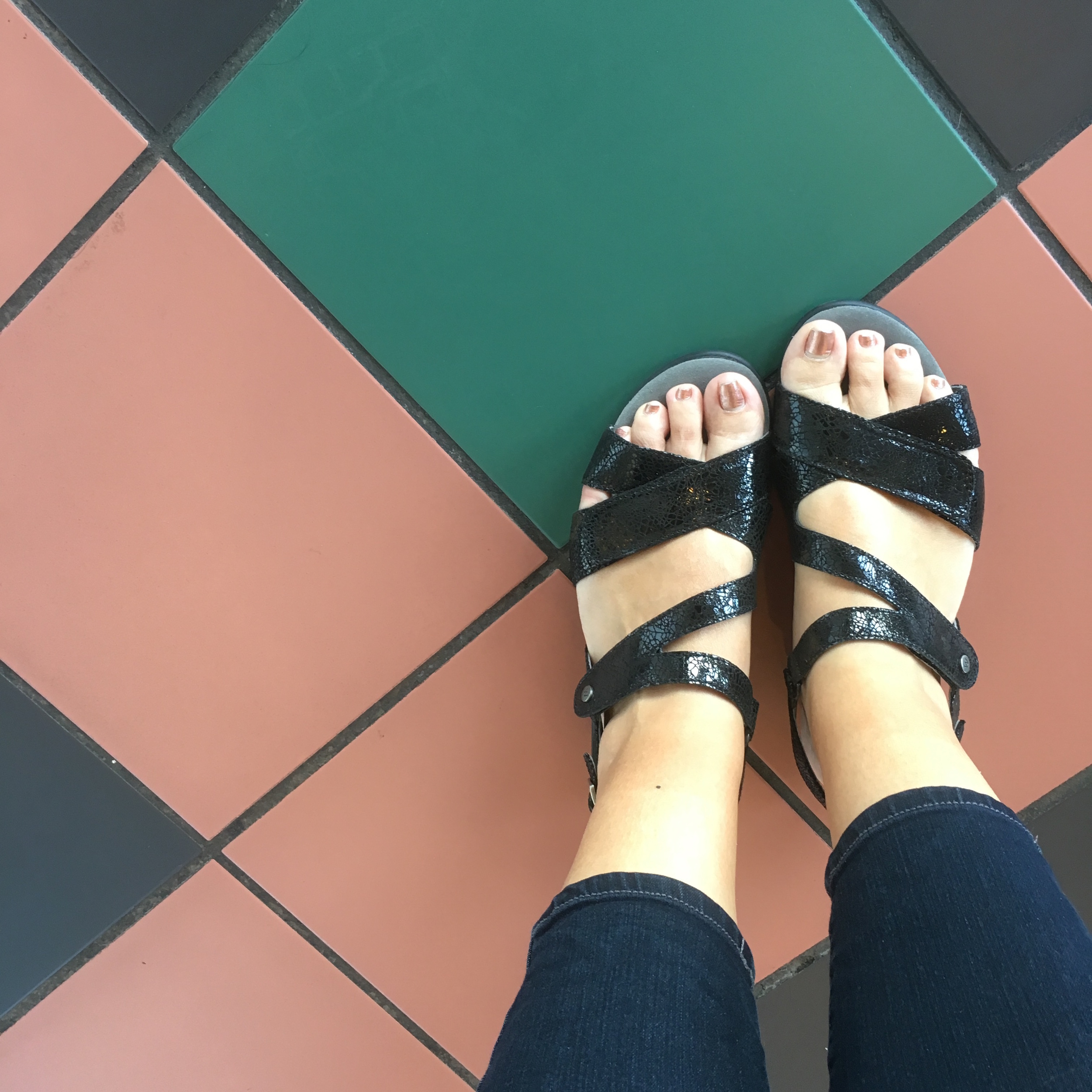 New sandals that sparkle