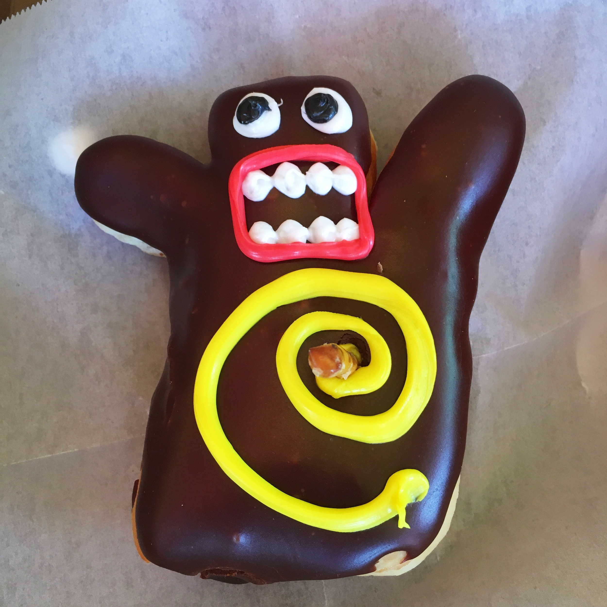 Voodoo doll donut... he was almost too cute to eat