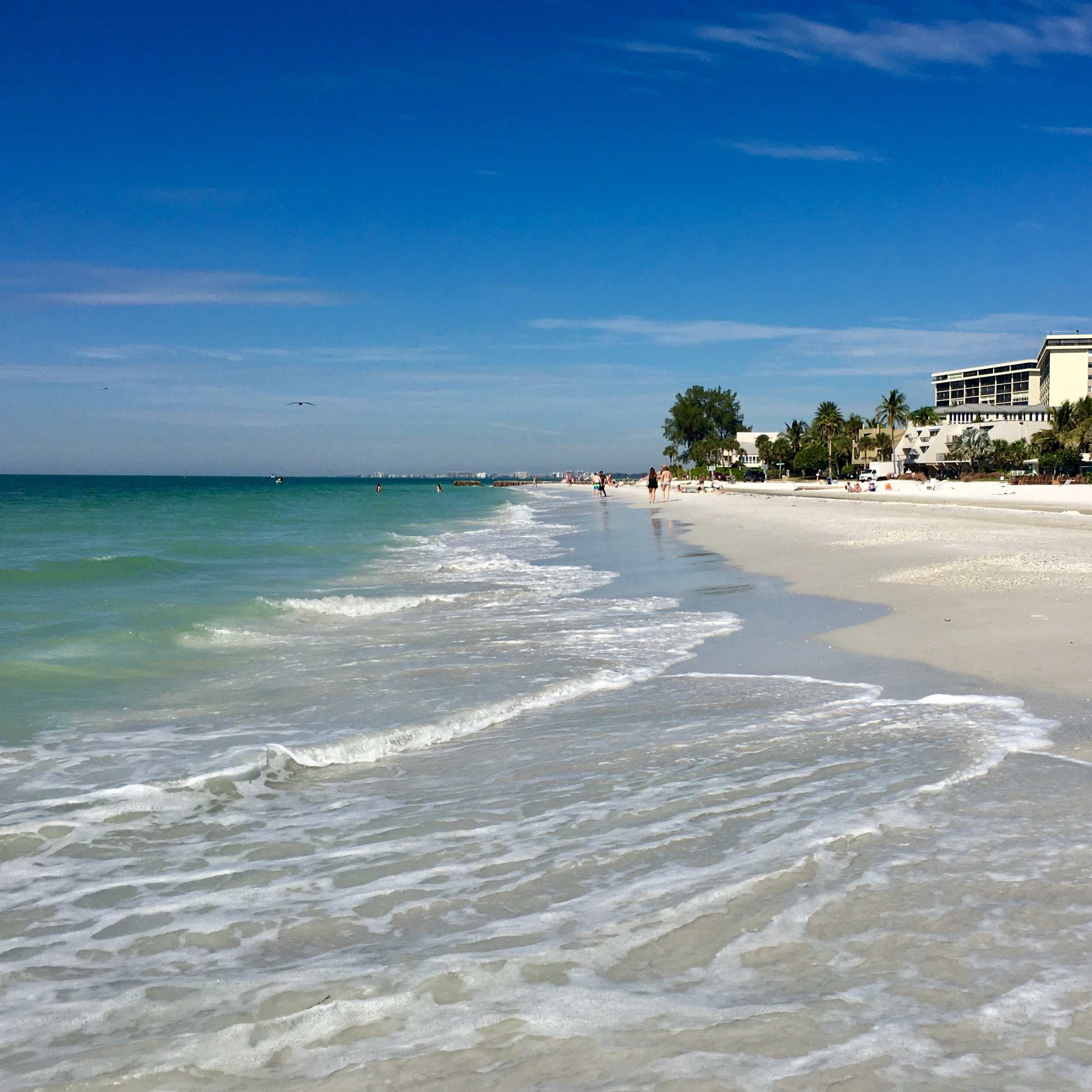 There is something overwhelmingly joyful about being close to the ocean. This is the Gulf off Siesta Key in Florida.