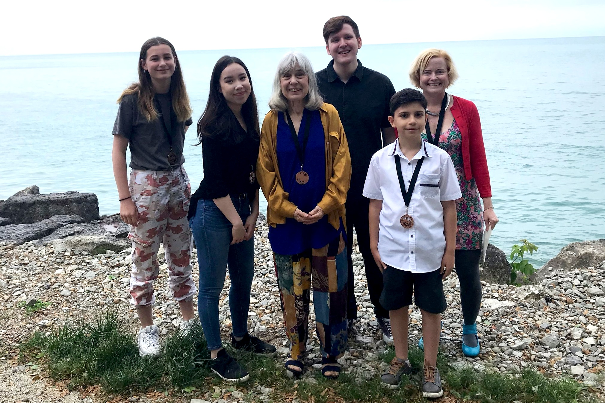 With students at Berger Park after a Summer 2019 recital