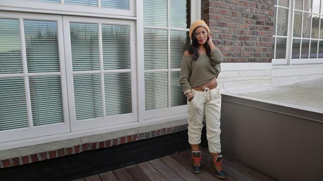 Piper Gore Wool Sweatpants