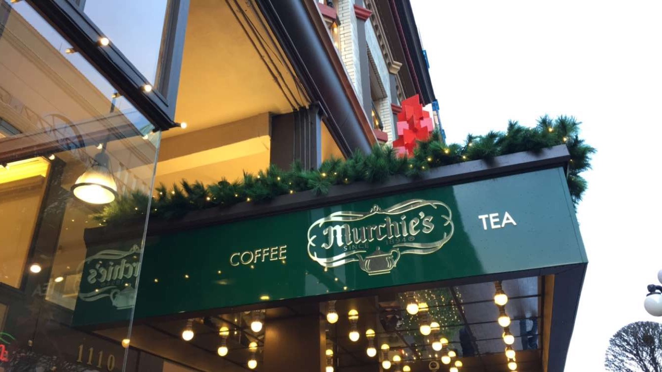 Ending the tour at Murchie's for tea