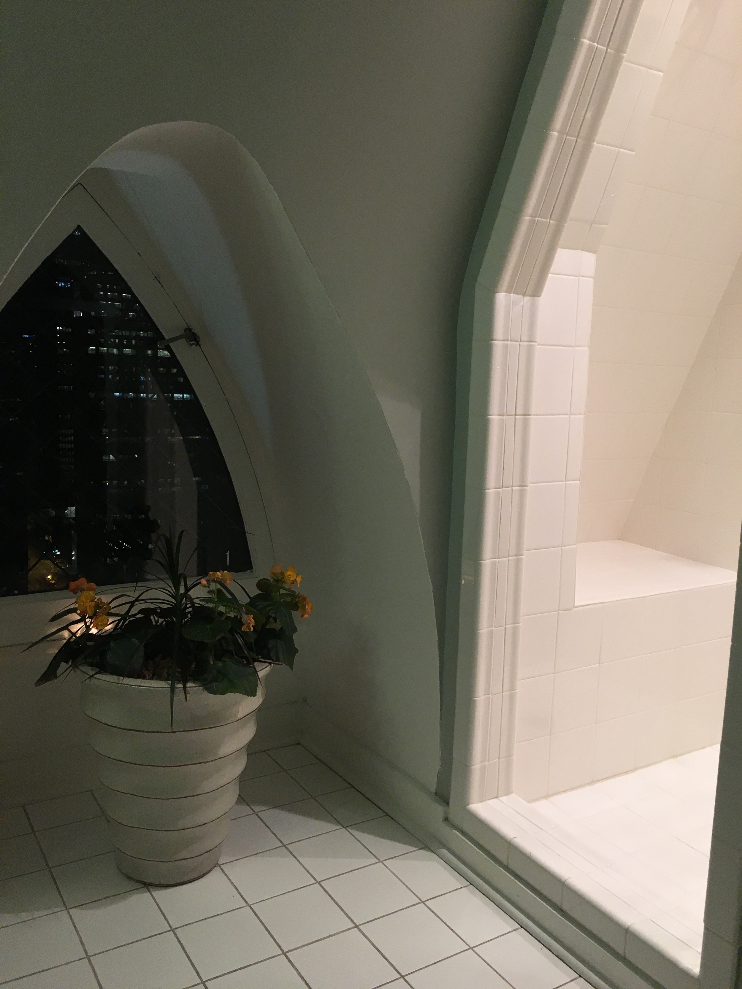 Even the bathroom has a view.