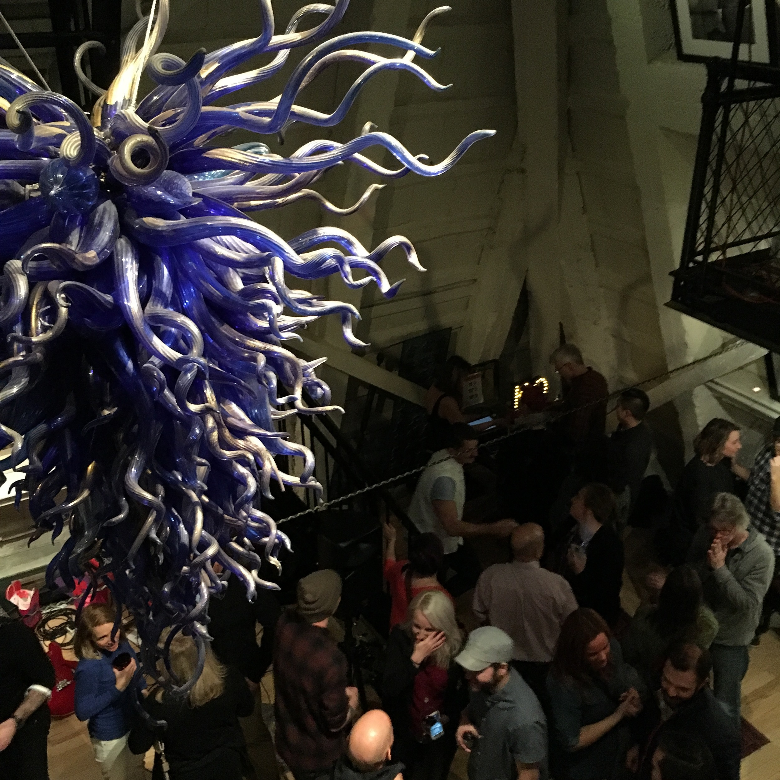 The incredible Chihuly chandelier