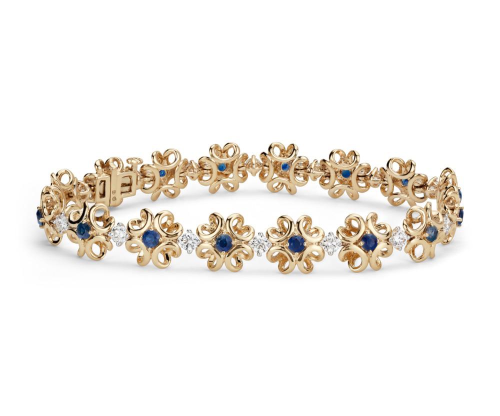 53808_Colin Cowie Sapphire and Diamond Bracelet 14KY.jpg