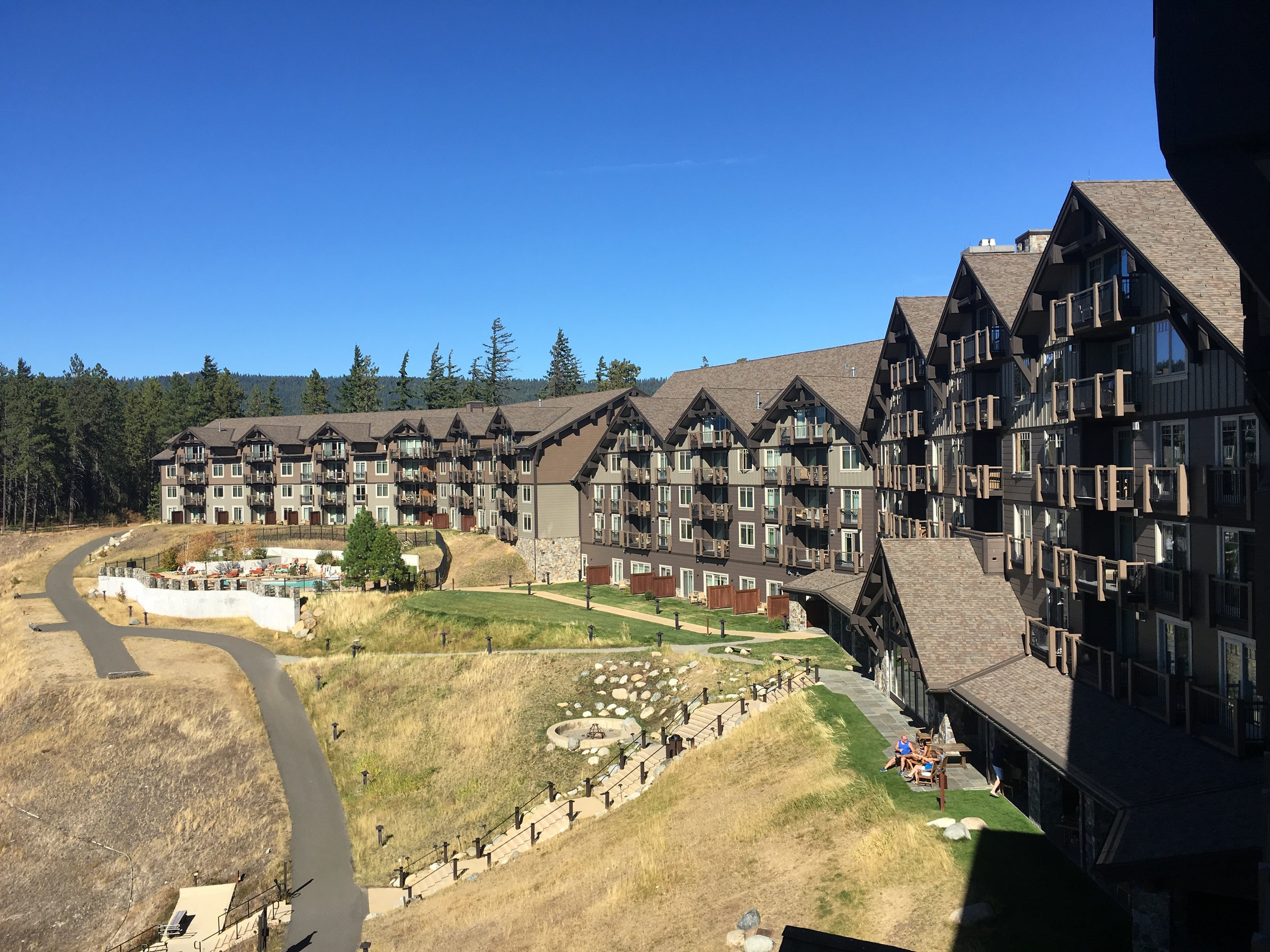The view from our room at The Lodge at Suncadia