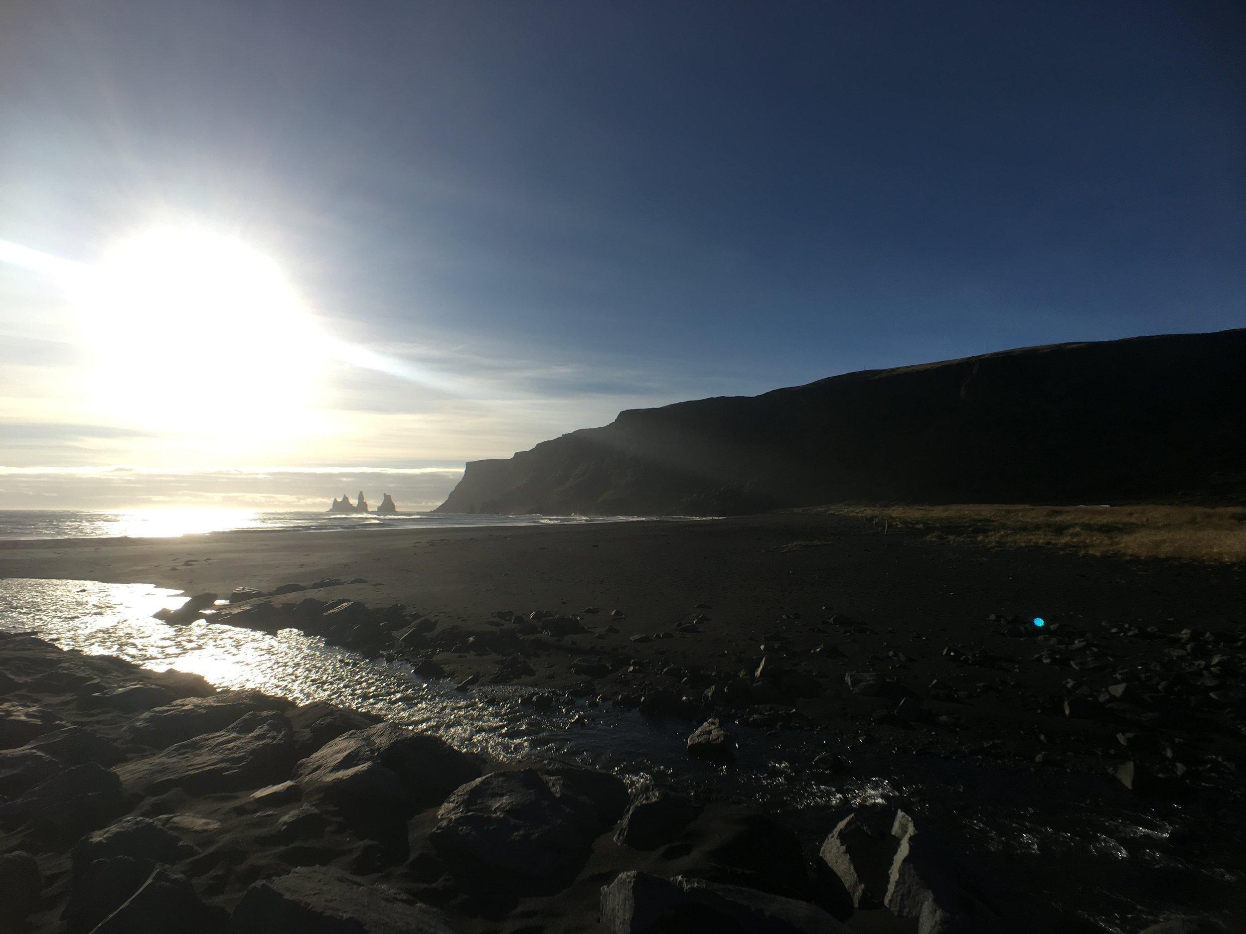 Black sand beaches at Vik