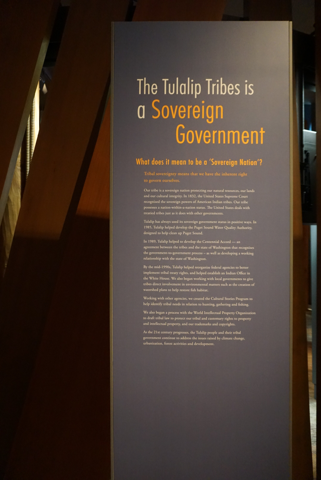 "The Tulalip Tribes, like all American Indian tribes, function as a ""nation-within-a-nation."""