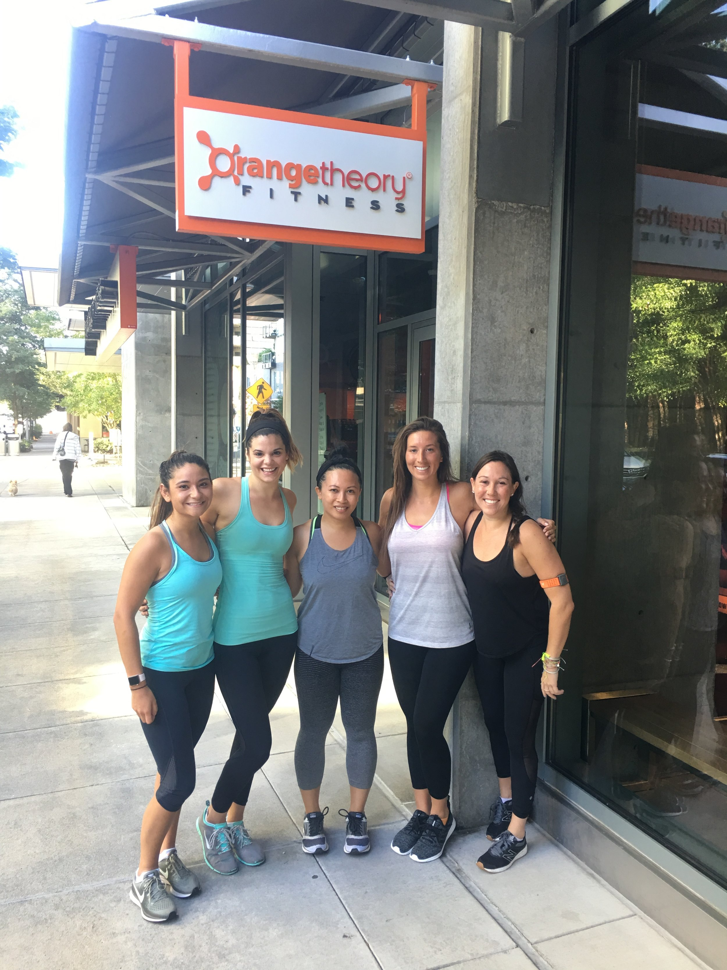 Last workout in Portland before heading home! At Orangetheory South Waterfront with the OTF HQ team (Photo credit Claire Mitchell)