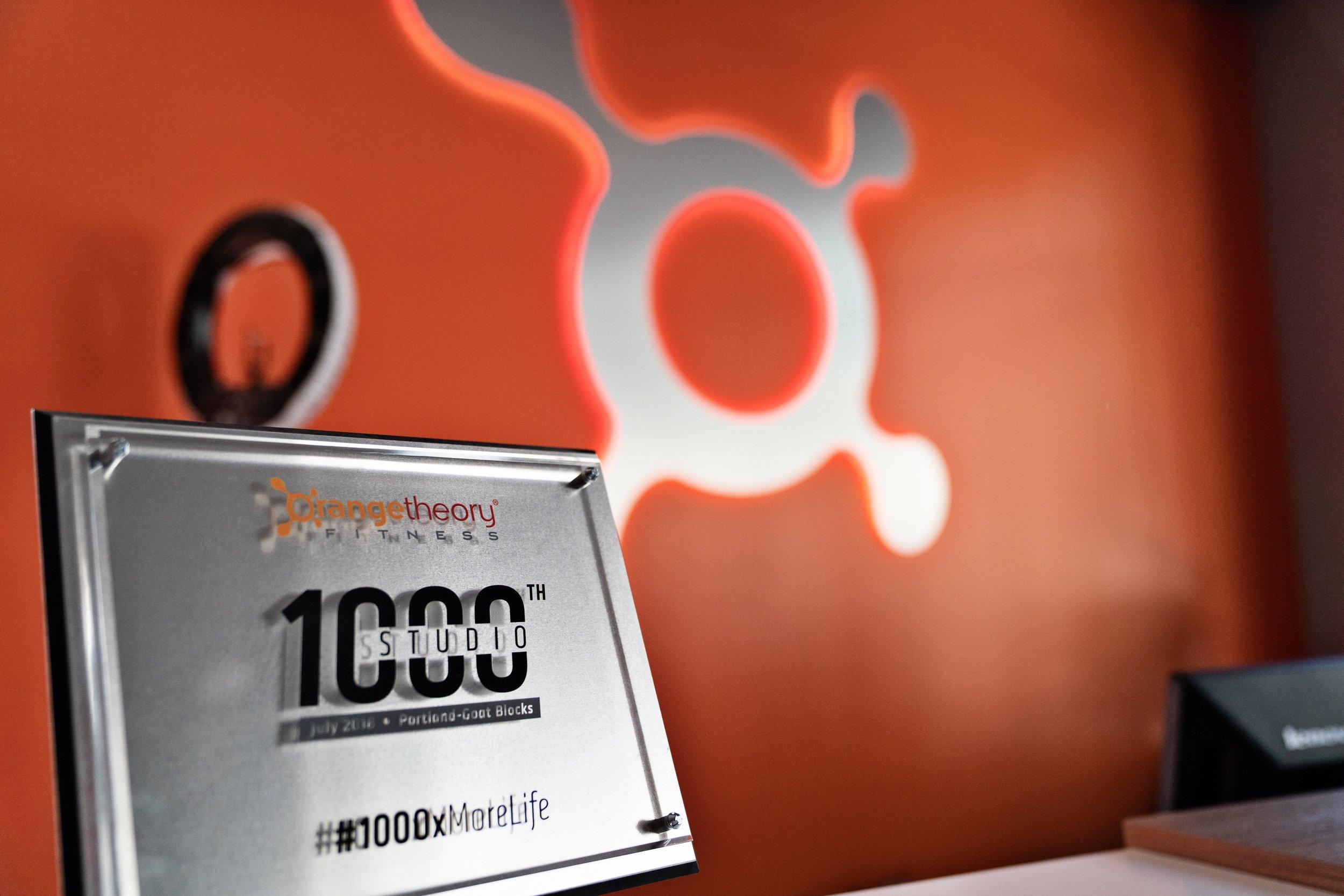 Orangetheory Goat Blocks, the 1000th studio