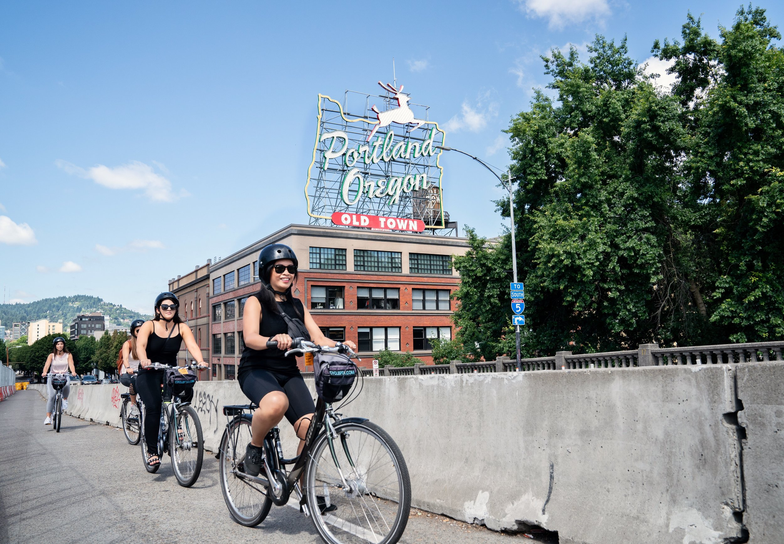 Heading eastside on a foodie bike tour with Cycle PDX!