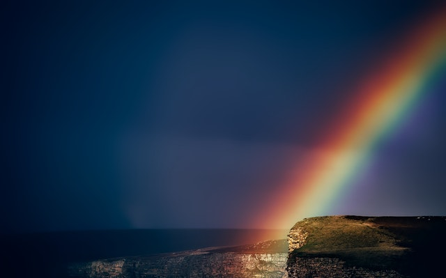 Ānuenue or Rainbow brings the message of peace. You are gently enveloped with thoughts of love and positive energy.