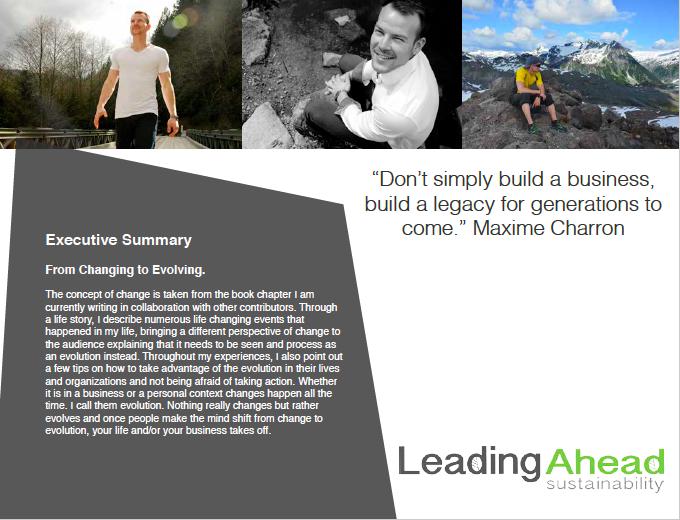 Speaking Media Kit Maxime Charron