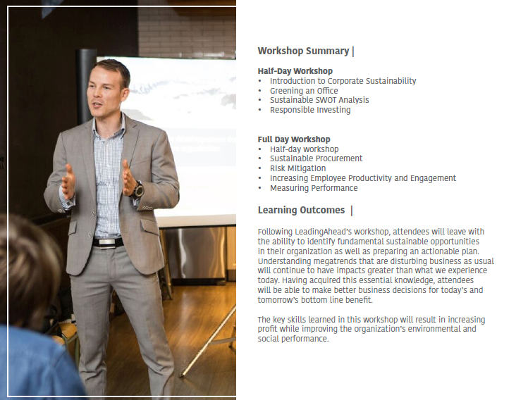Sustainable Strategy System Workshop