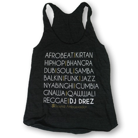 DJ Drez Music Racerback Tank