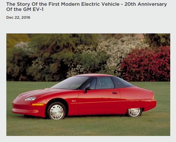 The Story Of the First Modern Electric Vehicle Blog Post