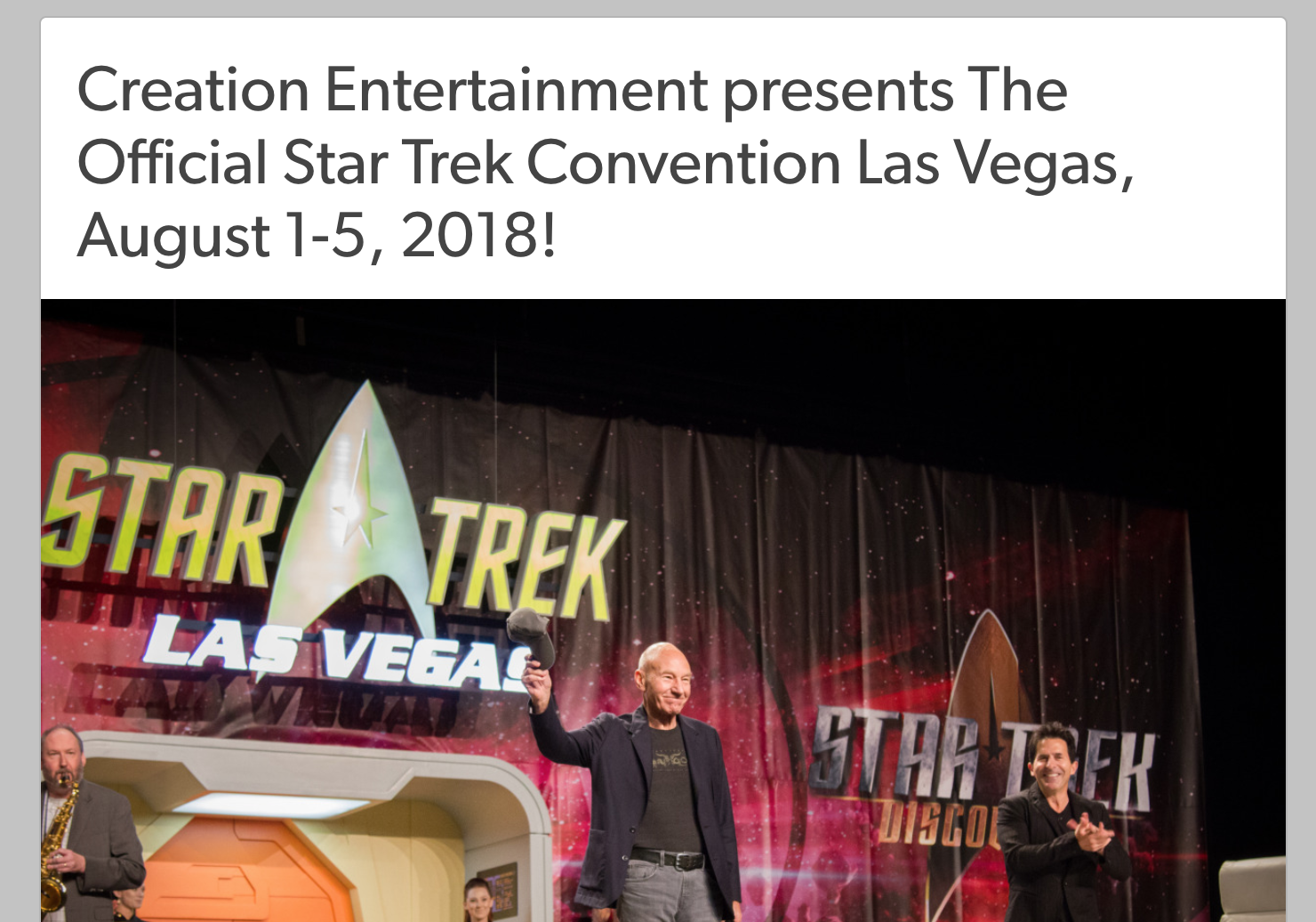 Star Trek Las Vegas Convention Announcement
