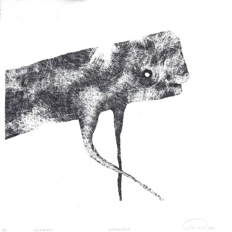 Ausma Smite 'Kukainas', lithograph