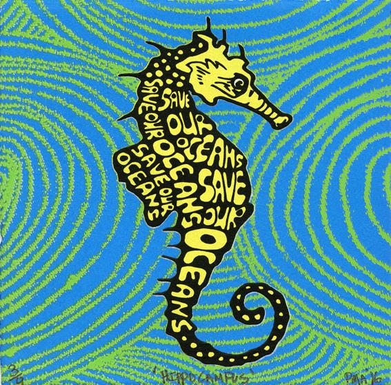 Armstrong, Pamela: Hippocampus screenprint