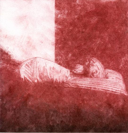 Bower, Robbie: Heaven's Child drypoint