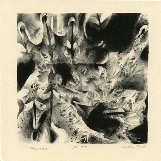 Bradley, Cazia: Troveux stone lithography