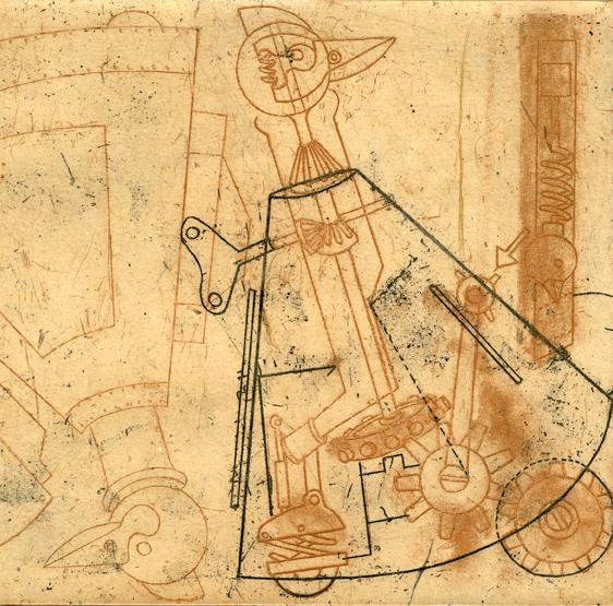 Brewill, Penny: Clockwork Chicken etching