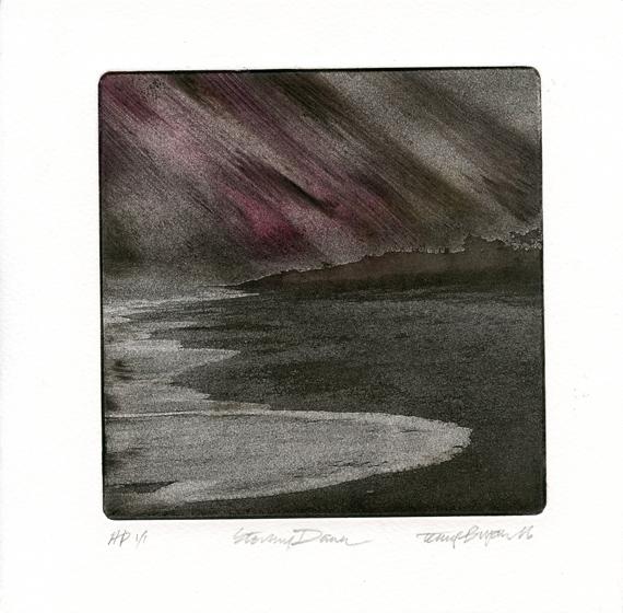Bryan, Terry: Stormy Dawn etching