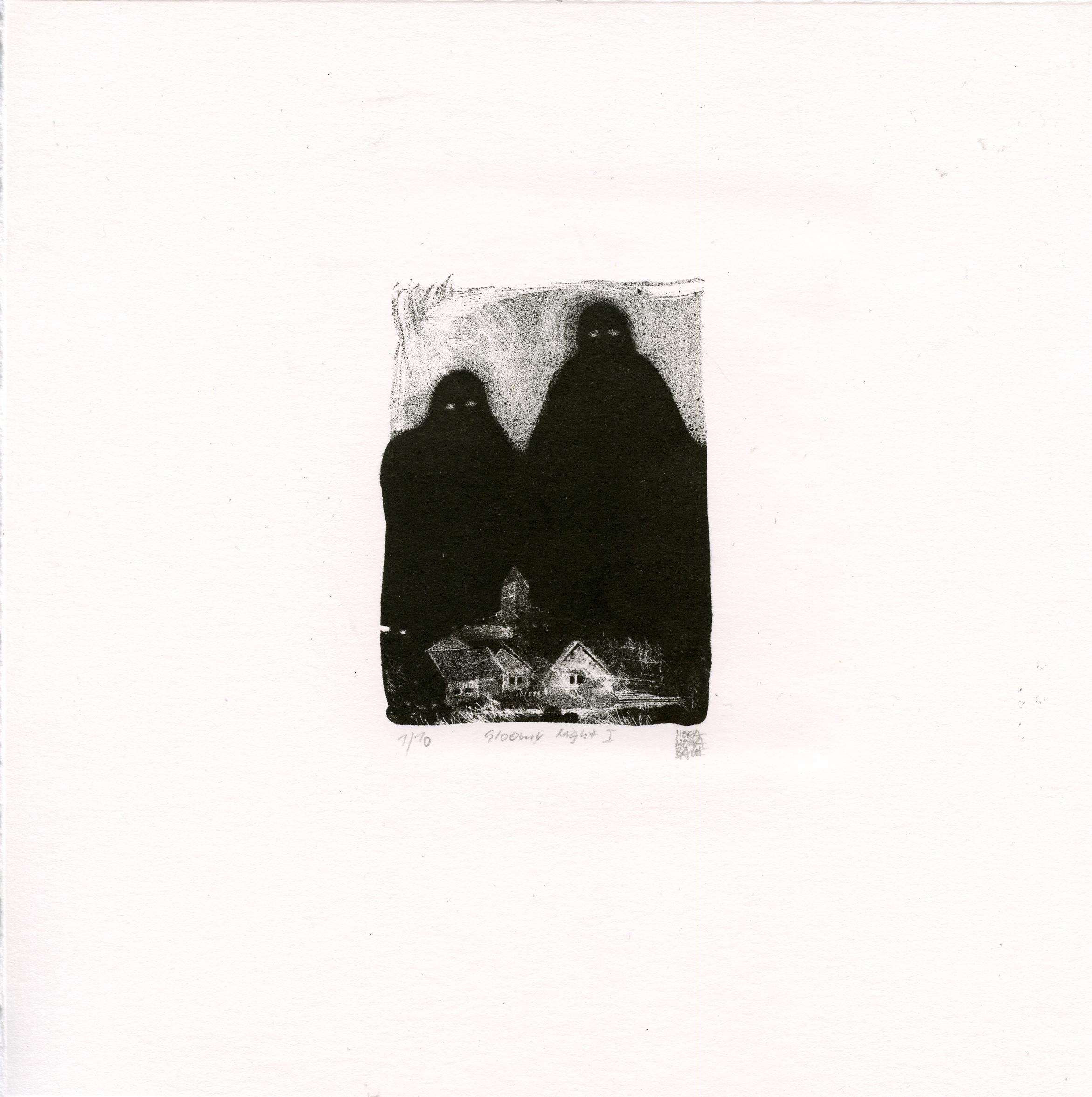 Bach, Mona Nora: Gloomy Night I lithography