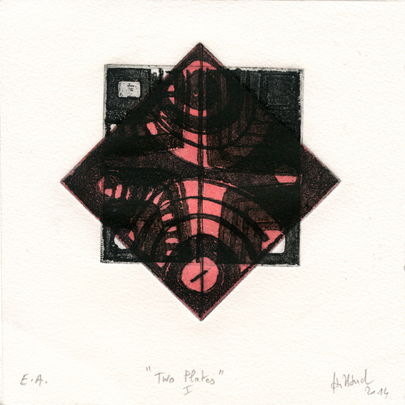 Caillaud, Brigitte: Two Plates I etching