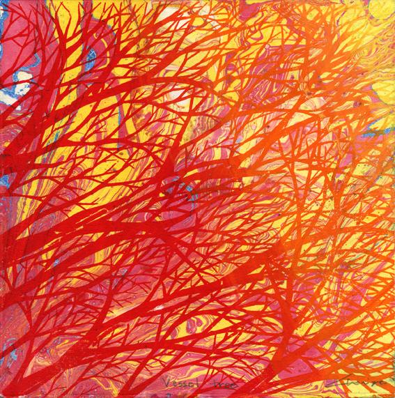 Cho, Miye Vessel Tree screenprint