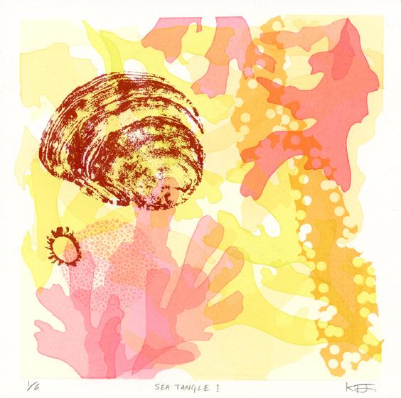 Fortune-Jones, Kate, Sea Tangle I screenprint