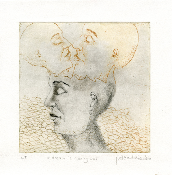 Fricke, Jutta: Adreah is Coming Out etching