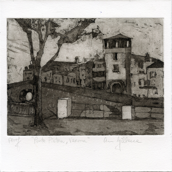 Gilleece, Ann: Ponte Pietraverona etching and aquatint
