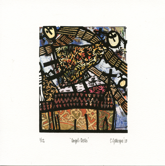 Gillespie, Colin: Angel Dolls collage relief