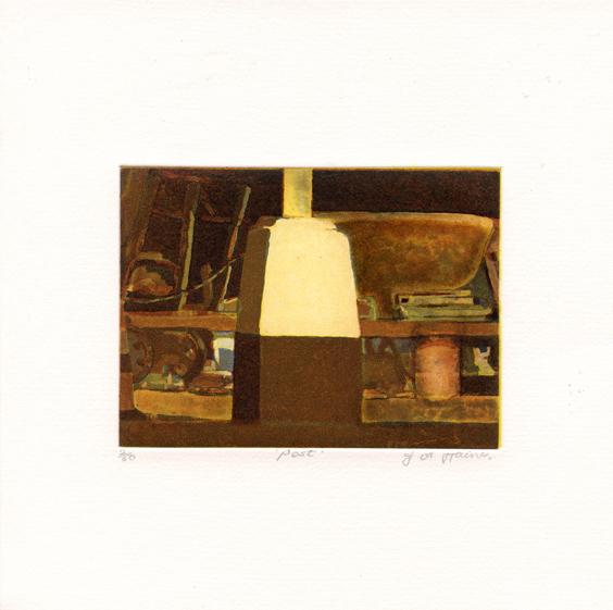 Haines, Julie Ann: Post etching aquatint