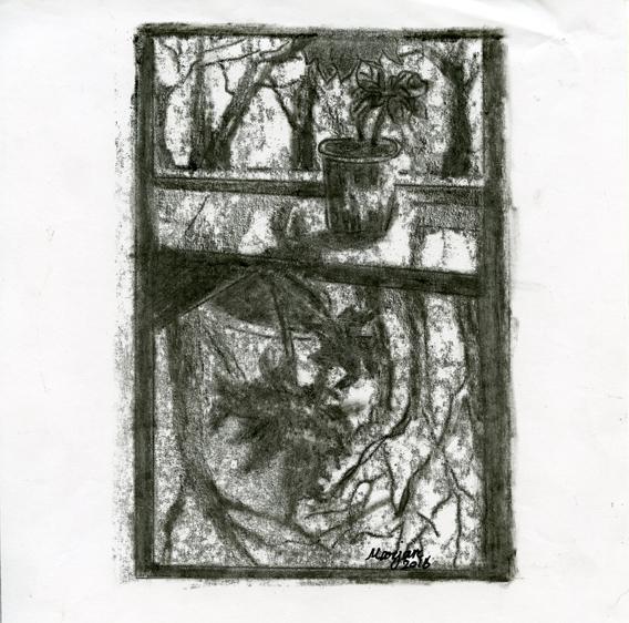Kashanijoo, Marjan: Dream of a Shadow monoprint
