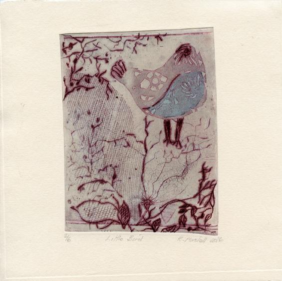 Marshall, Kathy: Little Bird etching