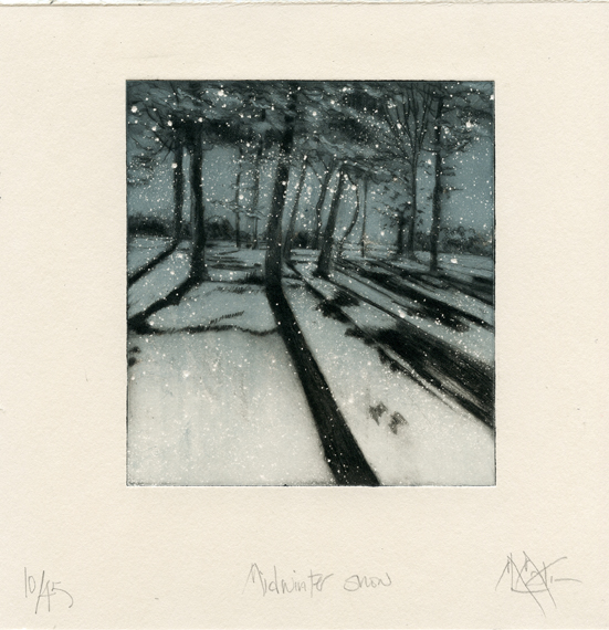 Martin, Marie Louise Midwinter Snow drypoint