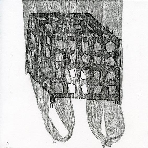 Matias: Wanna Play woodcut collagraph