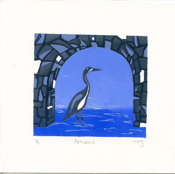 McArdell, Marg: Patience linocut
