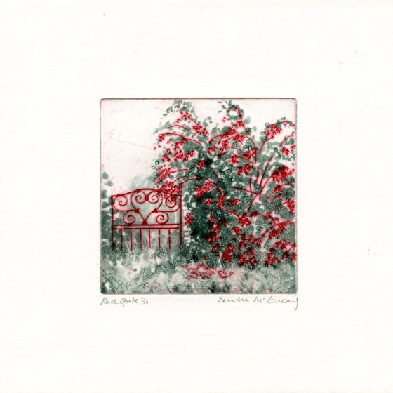 McCrory, Deirdre: Red Gate etching