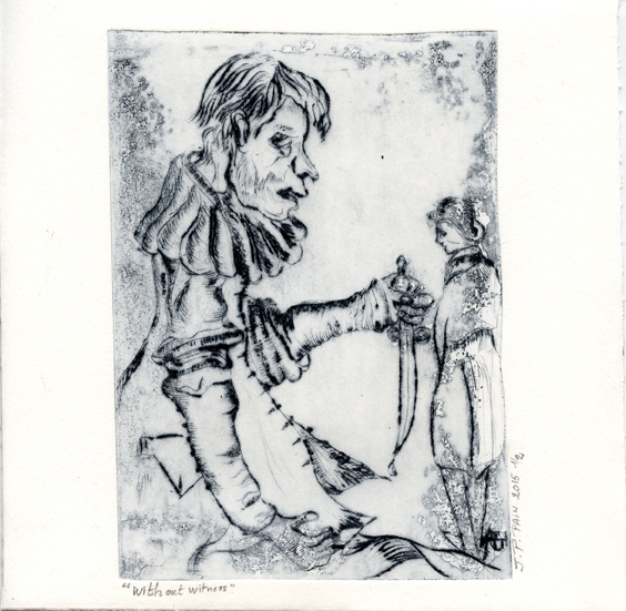 Pain, Jean-Pierre: Without Witness drypoint etching aquatintes
